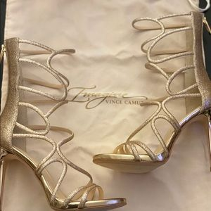 New Vince Camuto Champagne Gold Sandal